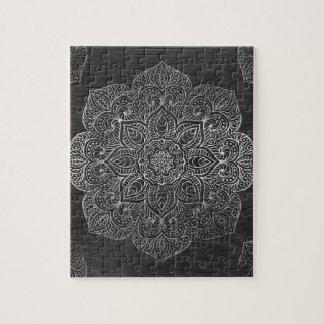 Wood mandala silver puzzles
