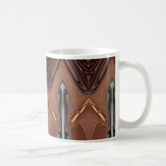 wood metal coffee mug