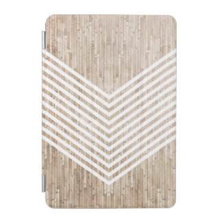 Wood minimalist chevron iPad mini cover