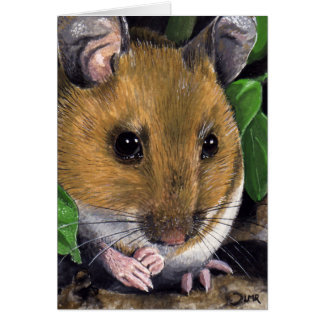Wood Mouse Painting Note Card