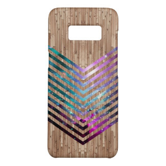 Wood nebula chevron Case-Mate samsung galaxy s8 case
