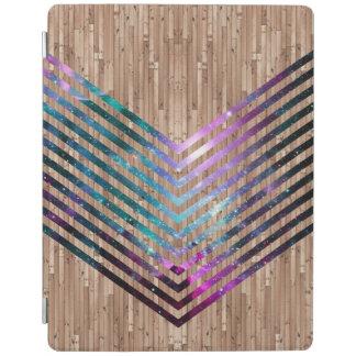 Wood nebula chevron iPad cover