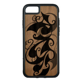 Wood Negative Shadow Swirl (iPhone 7) Carved iPhone 8/7 Case