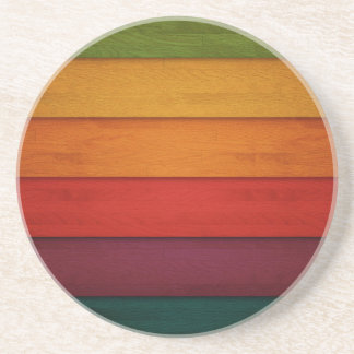 Wood of colors drink coaster