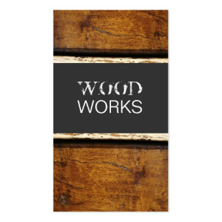 WOOD PACK OF STANDARD BUSINESS CARDS