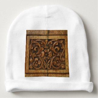 wood panel baby beanie