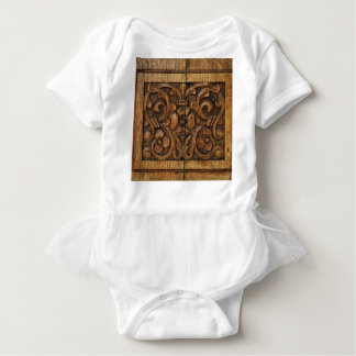wood panel baby bodysuit