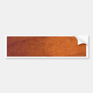 Wood Panel Car Bumper Sticker