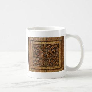 wood panel coffee mug