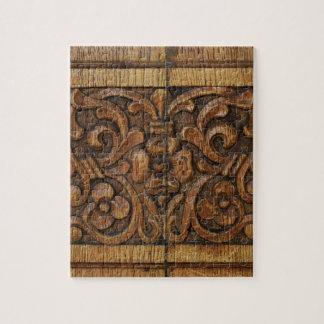 wood panel jigsaw puzzle