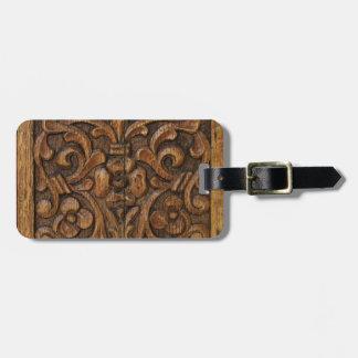 wood panel luggage tag