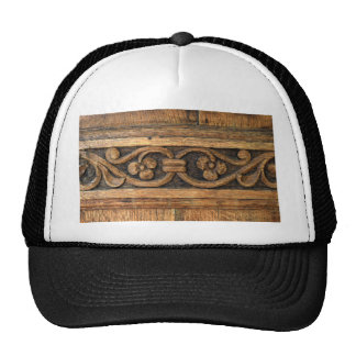 wood panel sculpture cap