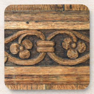 wood panel sculpture coaster