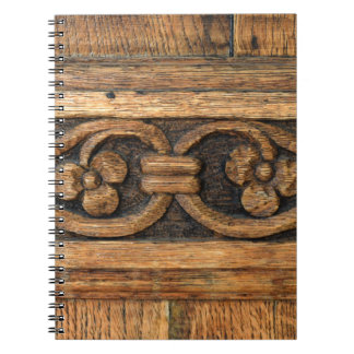 wood panel sculpture notebook