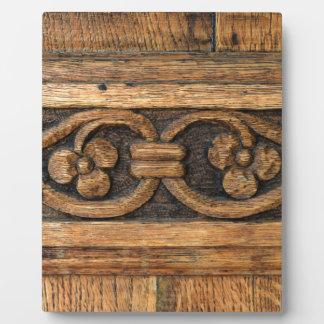 wood panel sculpture plaque