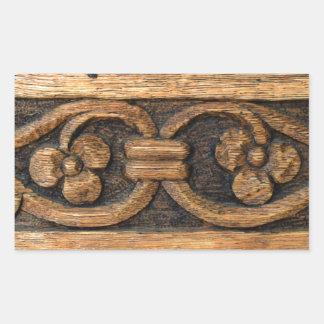 wood panel sculpture rectangular sticker