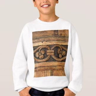 wood panel sculpture sweatshirt