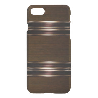 Wood Pattern Bronze/Gold iPhone 7 Case