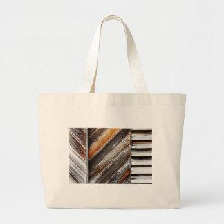 Wood Pattern Large Tote Bag