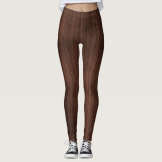 Wood pattern legging