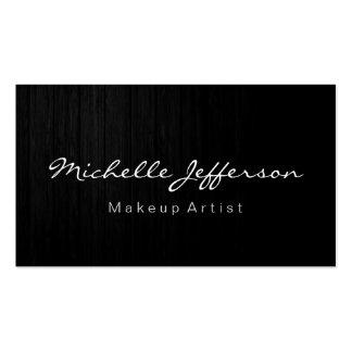 Wood Pattern Makeup Artist Script Business Card
