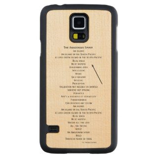 wood phone case for the Samsung  Galaxy S5