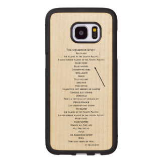 wood phone case for the Samsung Galaxy S7 edge