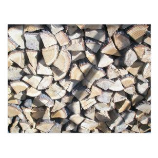 Wood Pile Postcard