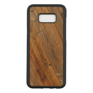Wood Plank Diagonal On Carved Samsung Galaxy S8+ Case