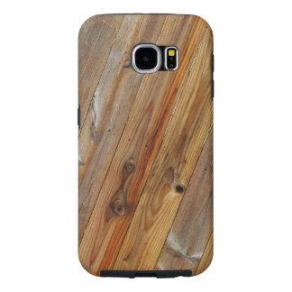 Wood Plank Diagonal Samsung Galaxy S6 Cases