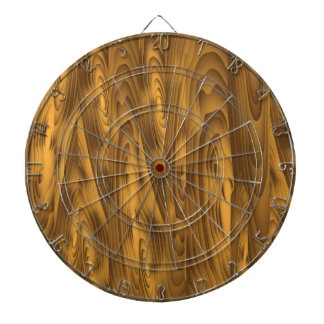 wood planks dartboard