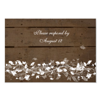 Wood Planks rsvps with envelopes Card