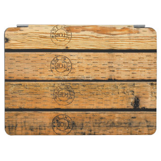 """Wood Planks Stamped with """"Made in USA"""" iPad Air Cover"""