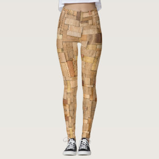 Wood Plywood - power Yoga put-went Leggings