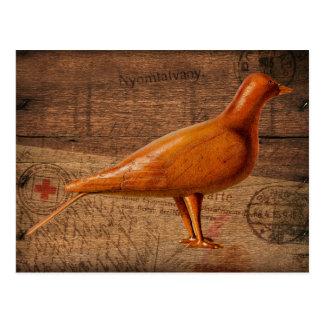 Wood Postal Pigeon Post Card