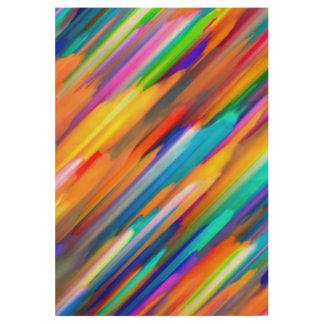 Wood Poster Colorful digital art splashing G391
