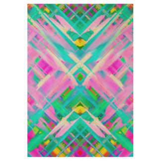 Wood Poster Colorful digital art splashing G473