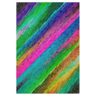 Wood Poster Colorful digital art splashing G478