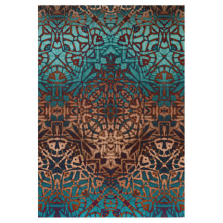 Wood Poster Ethnic Tribal Pattern