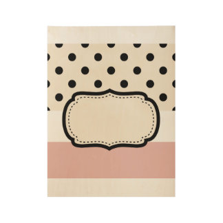 Wood poster with Dots