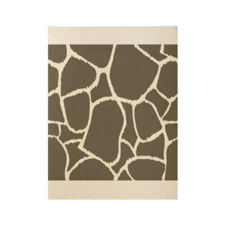 Wood poster : with Giraffe art