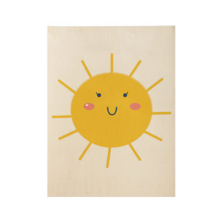Wood poster with Little Sun