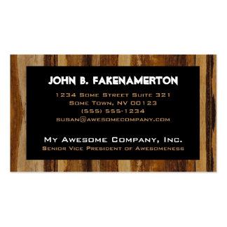 Wood Print Business Card