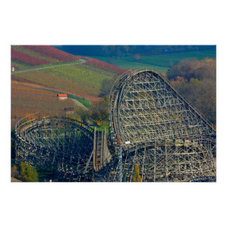 Wood roller coaster in Tripsdrill, D-BW.Weinberge Poster