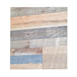 Wood rustic notepad