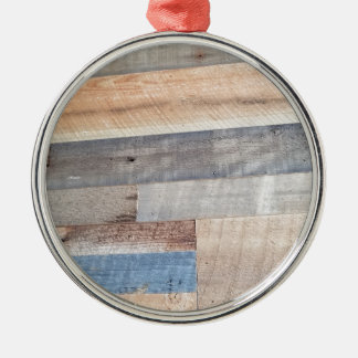 Wood rustic Silver-Colored round decoration