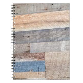 Wood rustic spiral notebook