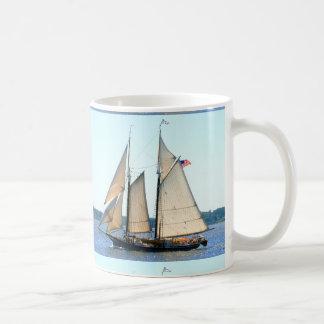 wood schooner sailing mug