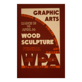 Wood Sculpture WPA Poster