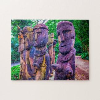 Wood Sculptures Singapore. Jigsaw Puzzle